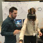 virtual reality at a trade show