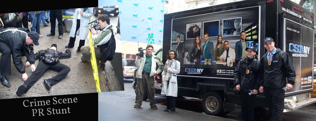 CSI: NY Weekends PR Stunt