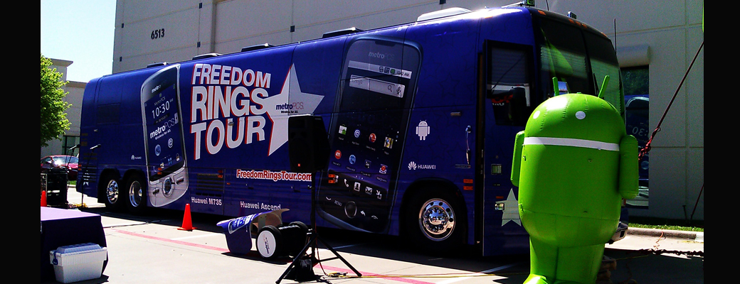Freedom Rings Tour marketing bus