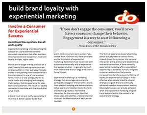 Build Brand Loyalty with Experiential Marketing