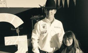 Justin McDaniel with fan