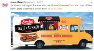 Jewel-Osco social media post