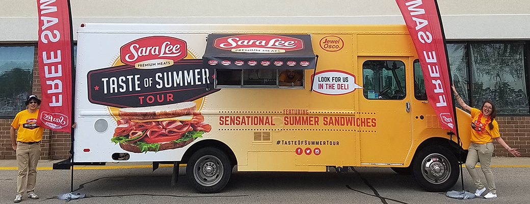 Sara Lee sampling tour
